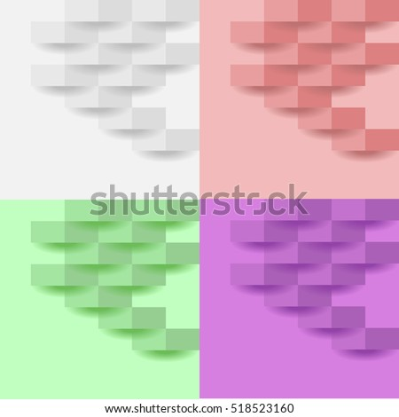 Set of abstract rectangles, abstraction, rectangles with shadow, realistic rectangles, unusual rectangle, icon rectangular, symbol rectangle, illustration rectangle. Flat rectangle, vector.
