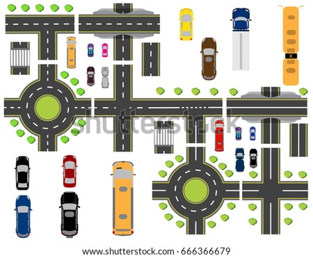 set of abstract road junctions