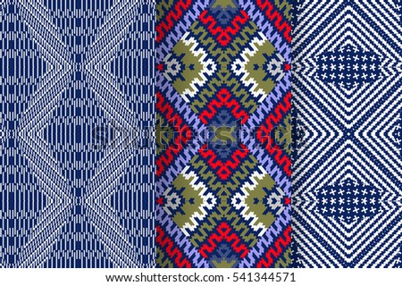 set of 3 abstract seamless