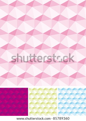 Set of Abstract seamless pink backgrounds