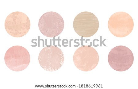 Set of abstract story highlight covers icons. Round watercolor highlight backgrounds for social media stories. Stylish design elements for beauty shop, bloggers and social page cover Foto stock ©