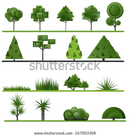 set of abstract trees  shrubs
