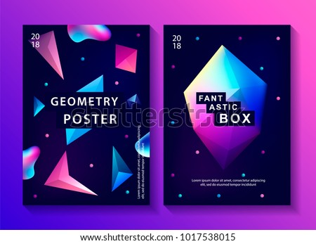 set of abstract trendy cosmic
