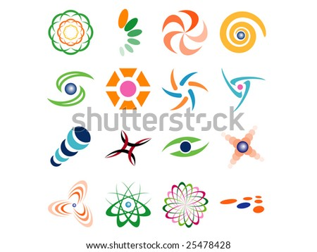 Set of Abstract Vector Design Elements