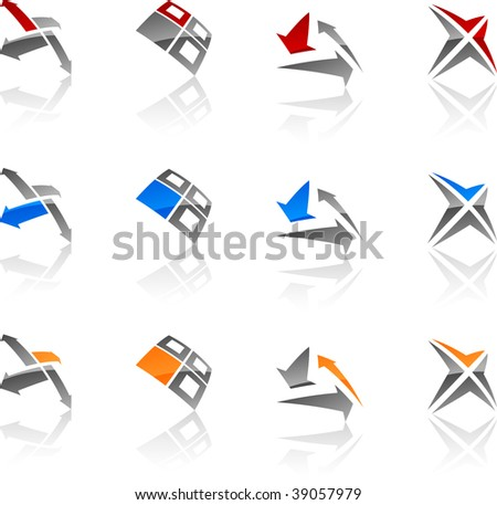 Set of abstract vector icons such logos.