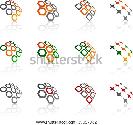 Set of abstract vector icons such logos