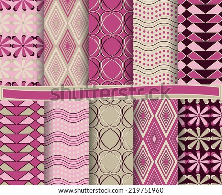 set of  abstract vector paper for scrapbook  #219751960
