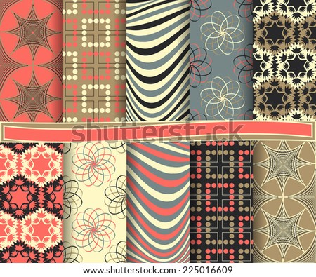 set of  abstract vector paper for scrapbook  #225016609