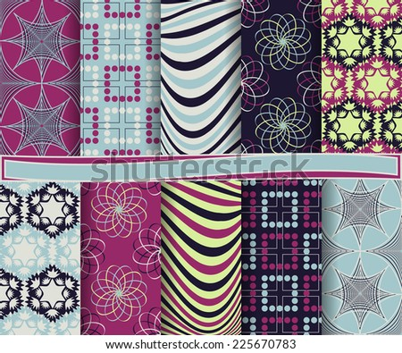 set of  abstract vector paper for scrapbook  #225670783
