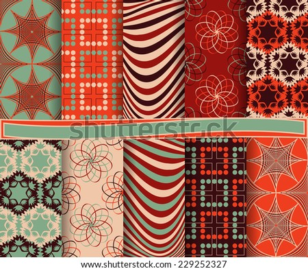 set of  abstract vector paper for scrapbook  #229252327