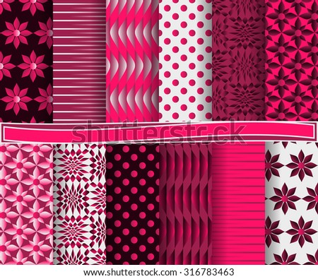set of abstract vector paper with decorative shapes and design elements for scrapbook   #316783463