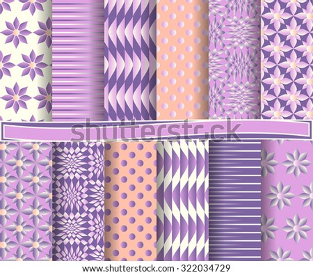 set of abstract vector paper with decorative shapes and design elements for scrapbook   #322034729