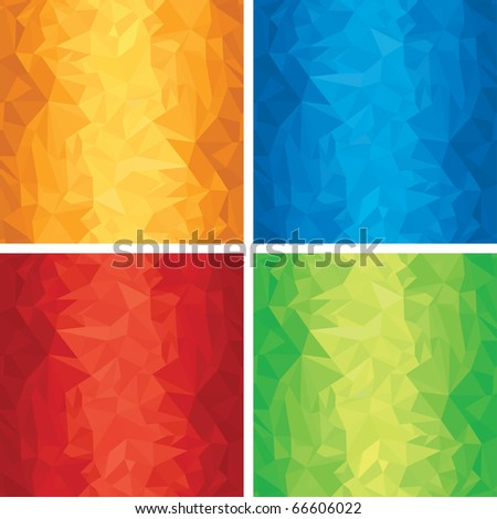Set of Abstract Wrinkled backgrounds