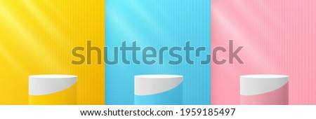 set of abstract yellow  blue