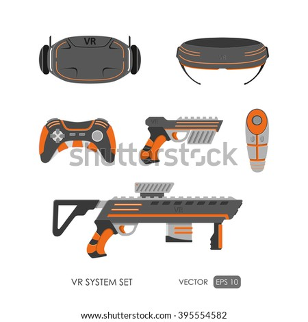 set of accessories for virtual
