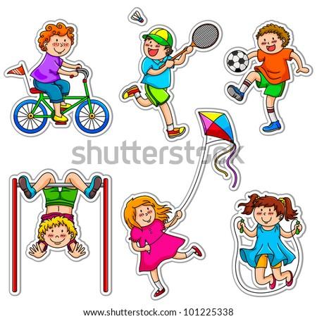 set of active kids
