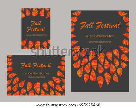 fall festival colorful border template download free vector art