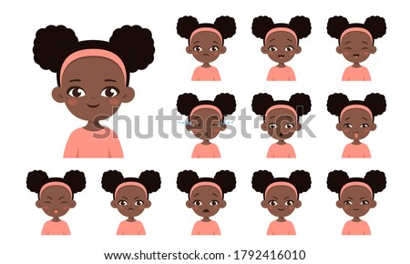 set of african american girl