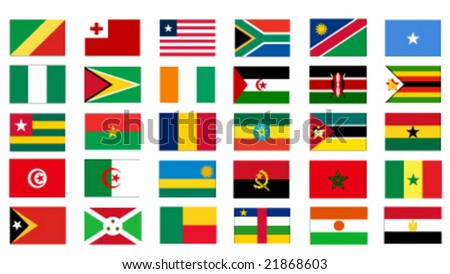 set of 30 african countries