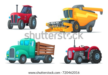 set of agricultural transport