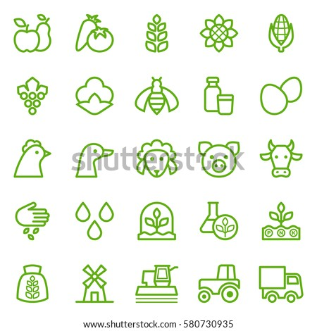 set of agriculture icons....