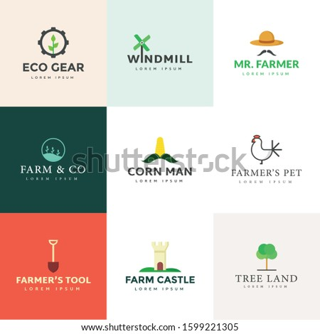 Set Of Agriculture Logotype Vectors