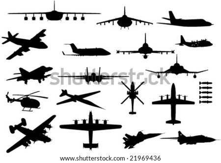 set of aircraft silhouettes
