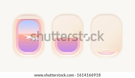 set of aircraft windows