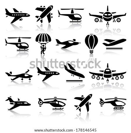 Aircraft Icons Free Vector