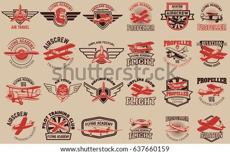 set of airplane training center ...
