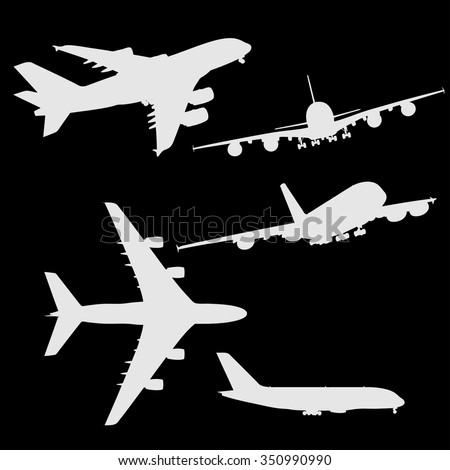 stock-vector-set-of-airplanes-vector-silhouettes
