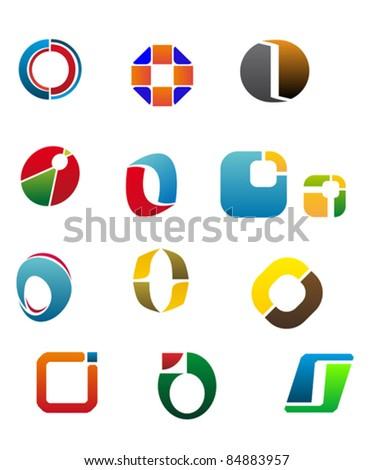 O Alphabet Logo Set Of Alphabet Symbols And Elements Of Letter O, such a logo ...