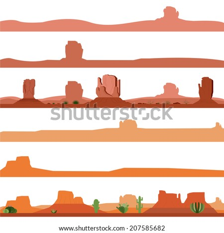 set of america desert landscape