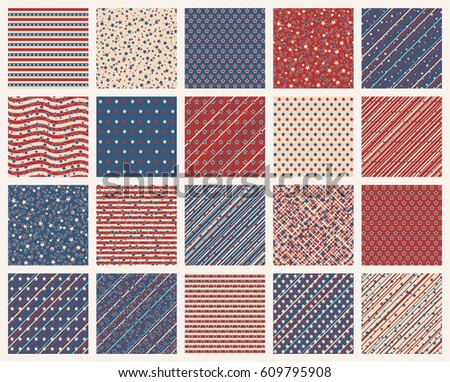 set of american patriotic stars ...