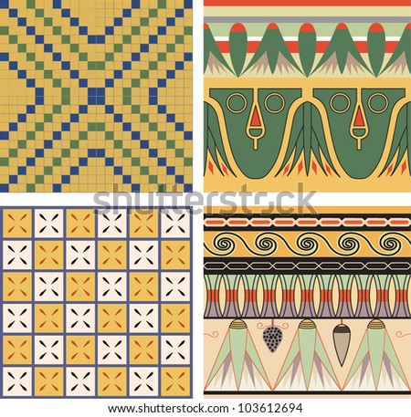 set of ancient egyptian