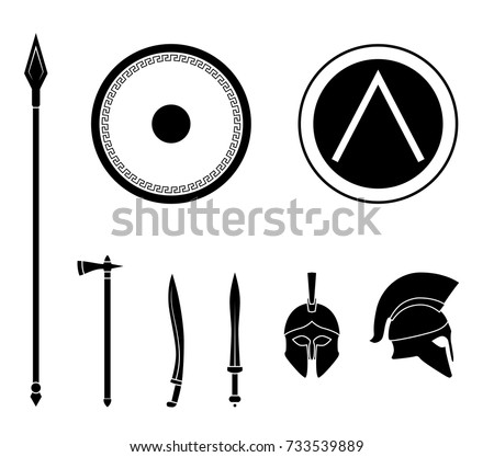 Free Vector Spartan With Spear And Shield Download Free Vector Art