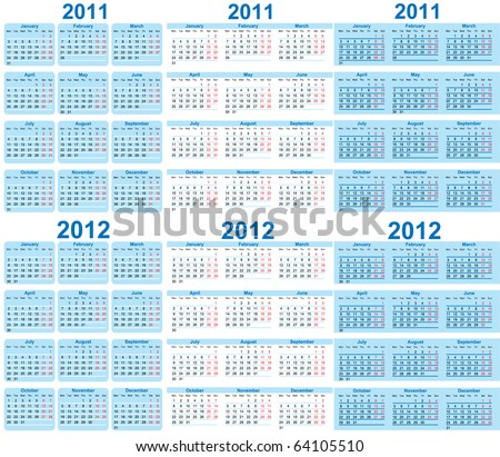 stock-vector-set-of-and-calendar