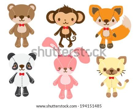 set of animal dolls