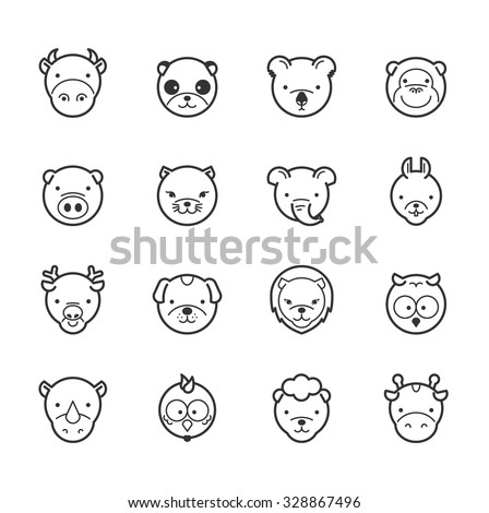 set of animal icons   eps10