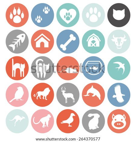set of animals icons