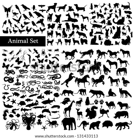 Shutterstock Set of animals silhouettes