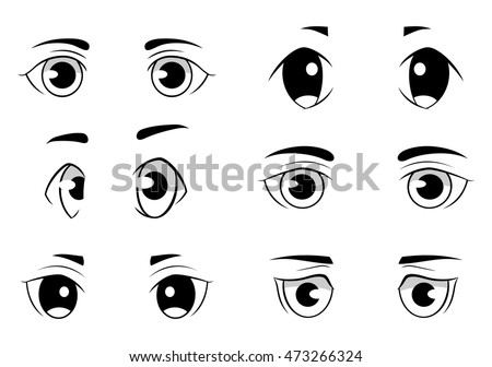 set of anime style eyes