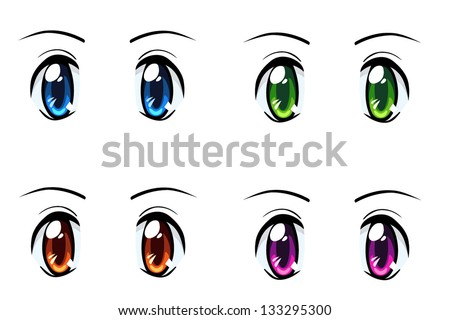vector anime eyes - download free vector art, stock graphics & images