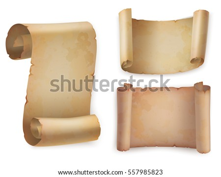 paper scrolls set download free vector art stock graphics images