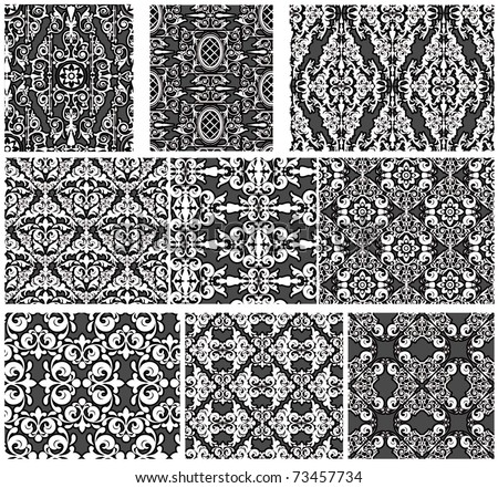 Set of antique seamless patterns
