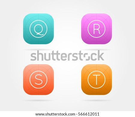 ios7 app icon vector grid download free vector art stock graphics