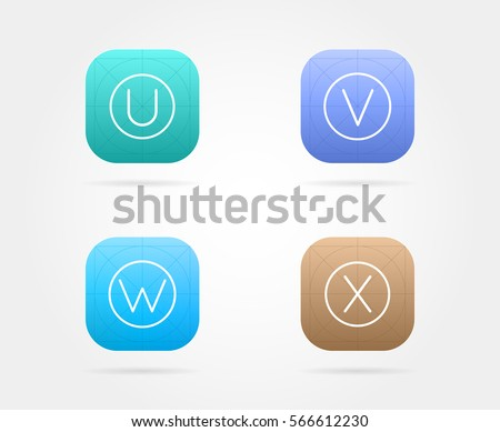IOS7 App Icon Vector Grid - Download Free Vector Art, Stock Graphics ...