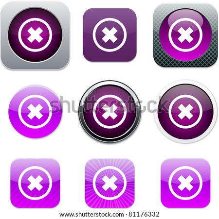 Set of apps icons. Vector illustration.