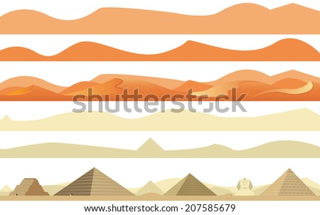 set of arabs and africa desert