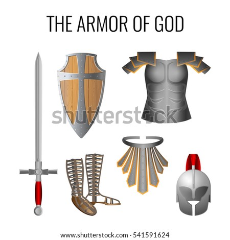 set of armor of god elements